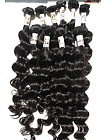 5pcs/250g 8A Indian Virgin Hair Extensions Deep Wave 12-28 Indian Natural Black Deep Wave Human Hair Bundles