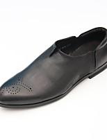 Черный Коричневый-Для мужчин-Повседневный-Свиная кожа-На плоской подошве-Удобная обувь-Мокасины и Свитер