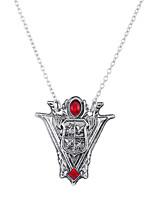 Lureme Twilight New Moon Tower Clock Pendant Necklace Costume Accessory-Antique