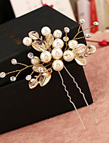 1 Pcs Bride Dish Hair Barrette Manual Pearl Headdress Flower Hairpin Of U Send Bead