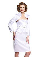Women's Wrap Shrugs Stretch Satin Wedding