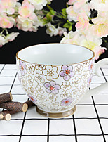 Purple Plum Flower High Temperature Porcelain Tea Cup/Coffee Mug 330 ml