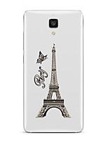 Pour Transparente Motif Coque Coque Arrière Coque Tour Eiffel Flexible PUT pour XiaomiXiaomi Mi 5 Xiaomi Mi 4 Xiaomi Mi 5s Xiaomi Mi 5s