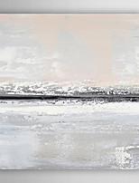 Pintados à mão Abstrato Quadrangular,Moderno 1 Painel Tela Pintura a Óleo For Decoração para casa