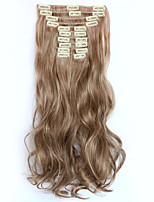 12pcs/Set 150g  Medium Auburn Blonde Wavy Hair Extension Clip In Synthetic Hair Extensions