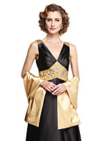 Women's Wrap Shawls Stretch Satin Wedding
