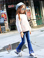 Girls' Going out Casual/Daily Solid Pants-Cotton Polyester Spring Fall