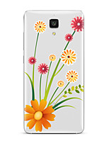 For  Xiaomi  Mi 4  Mi 5Transparent Pattern Case Back Cover Case Flower Soft TPU for  Mi 5s Plus  Mi 5s Mi 4s Mi 3