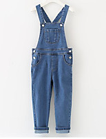 Girls' Casual/Daily Solid Overall & Jumpsuit-Rayon Spring