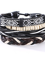 The New Vintage Cowhide Ancient Hand Woven Bracelet Cortical Layers Hand Rope Men's Bracelet Adjustable Size041