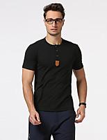 Tee-shirt Homme,Couleur Pleine Sortie Décontracté / Quotidien Vacances simple Manches Courtes Col Ras du Cou Coton