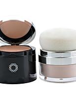 1Pcs Women 2 In 1 Makeup Face Pressed Powder Bare Skin Mineral Palette Powder