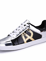 Men's Sneakers shoes Spring Fall Winter Comfort Patent Leather Outdoor Office & Career Casual Flat Heel Sliver/Red/Blue