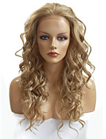 Lace Front Wig Synthetic Fiber Long Deep Wavy For European and Amerian Ladies Daily Beauty Wig