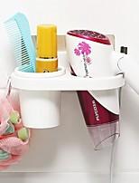 1Pcs  Bathroom Wall Storage Rack Wall-Mounted Suction Hair Dryer Drier Comb Holder Rack Stand Set Plastic Bathroom Storage Organizer