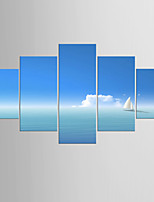 Photographic Print Landscape Modern Mediterranean,Five Panels Canvas Any Shape Print Wall Decor For Home Decoration