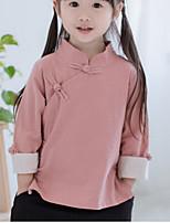 Hemd Lässig/Alltäglich einfarbig Baumwolle Frühling Herbst ½ Ärmel Normal