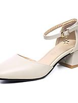 Черный Красный Миндальный-Для женщин-Для офиса Для праздника Повседневный-Полиуретан-На толстом каблуке-клуб Обувь-Обувь на каблуках