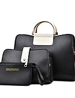 Women Bag Sets PU All Seasons Formal Casual Event/Party Wedding Office & Career Doctor Zipper Gray Ruby Black White