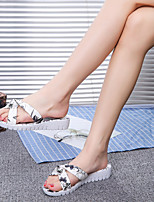 Women's Slippers & Flip-Flops Spring Summer Comfort PU Casual Wedge Heel Flower