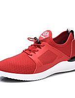 Черный Военно-зеленный Красный-Для мужчин-Для прогулок Повседневный Для занятий спортом-Тюль-На плоской подошве-Удобная обувь