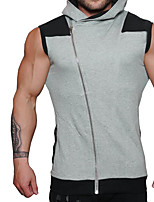 Men's Sports Simple Active Summer Tank Top,Solid Off Shoulder Sleeveless Cotton Thin