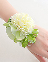 Wedding Flowers Free-form Lilies Peonies Wrist Corsages Wedding Party/ Evening Satin
