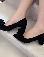 Women's Wedding Shoes Spring Comfort PU Casual Chunky Heel Block Heel
