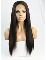 Silky Straight Silk Top 4x5 Inch Lace Front Human Hair Wig for Black Women