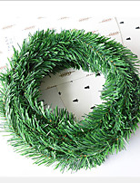 216 Inch Artificial Leaf Fake Vine Simulation Flower Foliage Green Leaves Rattan Wreath Decorative Home Wall Garden Party Decor