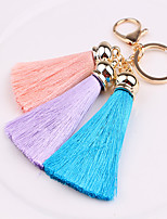 Key Chain Circular Key Chain Black Green Pink Yellow Purple Metal