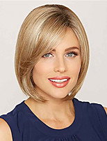 Brown Color Daily Style Short Length Cheap High Quality Heat Resistant Capless Wig for Women