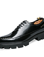 Men's Oxfords Spring Fall Creepers Formal Shoes Comfort Cowhide Wedding Outdoor Office & Career Party & Evening Studded Lace-up