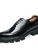 Homens oxfords mola creepers queda calçados formais conforto couro de vaca casamento ao ar livre escritório&Partido