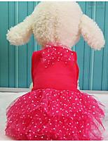 Chien Robe Vêtements pour Chien Eté Dessin-Animé Mignon Mode Décontracté / Quotidien Jaune Rouge Vert Rose