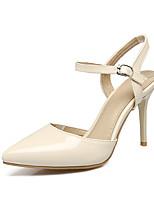 Damen-High Heels-Kleid-Kunstleder-Stöckelabsatz-Komfort-Schwarz Beige Rosa