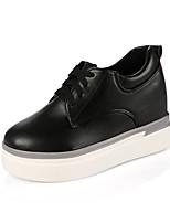 Da donna-Sneakers-Casual Sportivo-Comoda-Piatto-PU (Poliuretano)-Bianco Nero