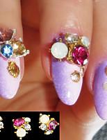 5pcs Manucure Dé oration strass Perles Maquillage cosmétique Nail Art Design