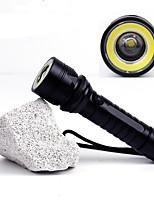Lampes de poche Accessoires Lampes de poche Lumens Mode Cree T6 18650 AAACamping/Randonnée/Spéléologie Usage quotidien Cyclisme Chasse