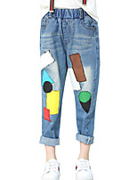 Girls' Casual/Daily Color Block Pants-Cotton Spring Fall