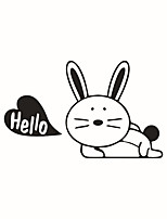 Wall Stickers Wall Decals Style Cute Rabbit PVC Switch Stickers
