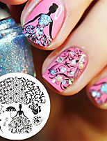 Rose Queen Theme Nail Stamping Plates Nail Art Stamp Template Image Plate BORN PRETTY BP25