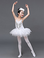 Shall We Ballet Dresses Kid Performance Spandex Tulle Paillettes Ruffles 2 Pieces Dance Costume