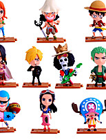 Anime Action Figures Inspired by One Piece Roronoa Zoro PVC 10 CM Model Toys Doll Toy 10PCS