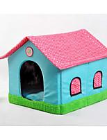 Кошка Собака Кровати Животные Корзины Пэчворк Мультипликация Мягкий Световой тент Бежевый Синий Розовый