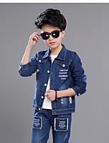 Boys' Casual/Daily Solid Sets,Bamboo Fiber Summer Spring Long Sleeve Clothing Set