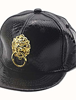 Children's Lovely Fashion Metal Lion Baseball Cap Hip-hop Cap  Duck Tongue Fur Hats