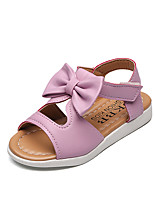 Girls' Sandals Summer Comfort Leatherette Outdoor Office & Career Party & Evening Dress Casual Flat Heel Bowknot
