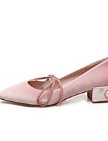 Women's Loafers & Slip-Ons Spring Comfort PU Casual Chunky Heel Block Heel