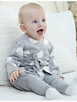 Unisex Casual/Daily Polka Dot Sets,Cotton All Seasons Long Sleeve Clothing Set